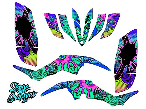 Senge Graphics All Years Yamaha Raptor 350, Zany Teal Graphics Kit Senge Graphics Inc.