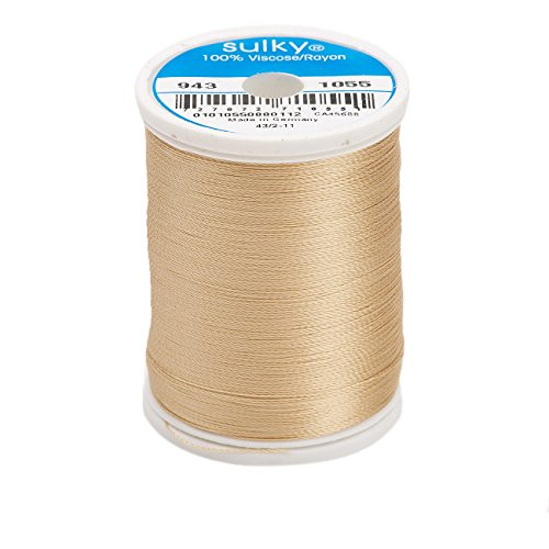 (Sulky Of America 268d 40wt 2-Ply Rayon Thread, 850 yd, Tawny Tan )