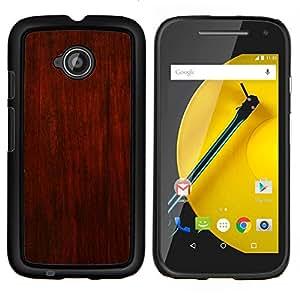GIFT CHOICE / Teléfono Estuche protector Duro Cáscara Funda Cubierta Caso / Hard Case for Motorola Moto E2 E2nd Gen // Rustic Brown Red Design Wall Interior //
