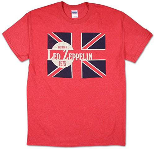 Led Zeppelin 'Evening Of Led Zep - 1975' Red T-shirt