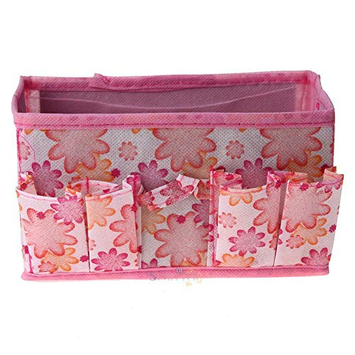 (MOPOLIS Large Foldable Multifunction Make Up Cosmetics Storage Box Container Bag (Color - Pink Flowers))