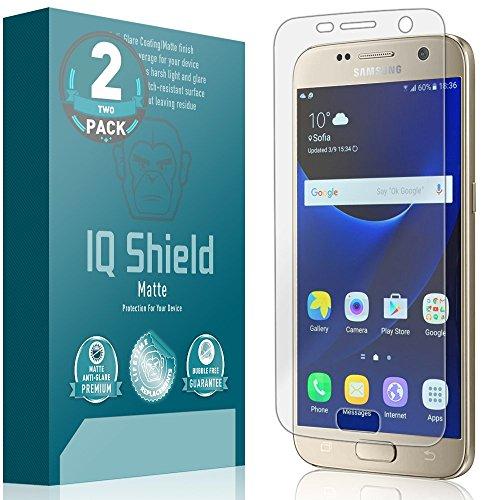 IQ Shield Matte Screen Protector Compatible with Galaxy S7 (2-Pack) Anti-Glare Anti-Bubble Film