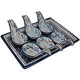 Temp-tations Old World Blue 7 Piece Tasting Spoon Set