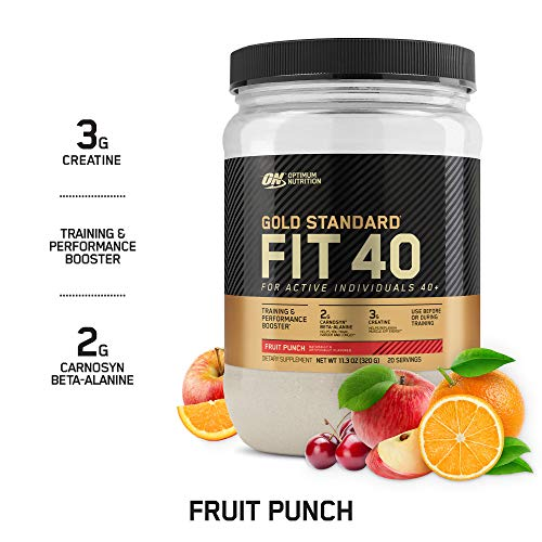 Optimum Nutrition Gold Standard FIT 40 PreWorkout Booster, Fruit Punch, 11.3 Oz