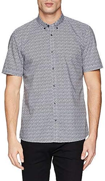Antony Morato Camicia Mezza Manica,Button Down,spacchettial Fondo Camisa Casual para Hombre