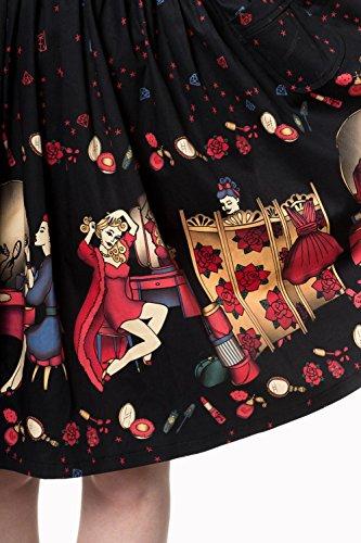 A Banned Apparel Schwarz Linie Damen Kleid EE4rqB0w