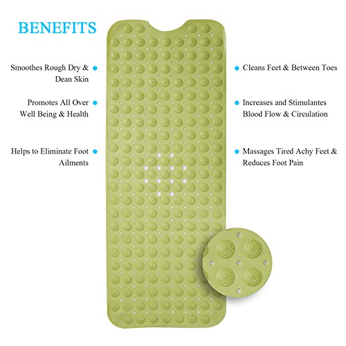 katem Non-Slip Strong Suction Cup Floor Shower Mat Bathroom Wash Feet Massage Pad Bathtub Mats