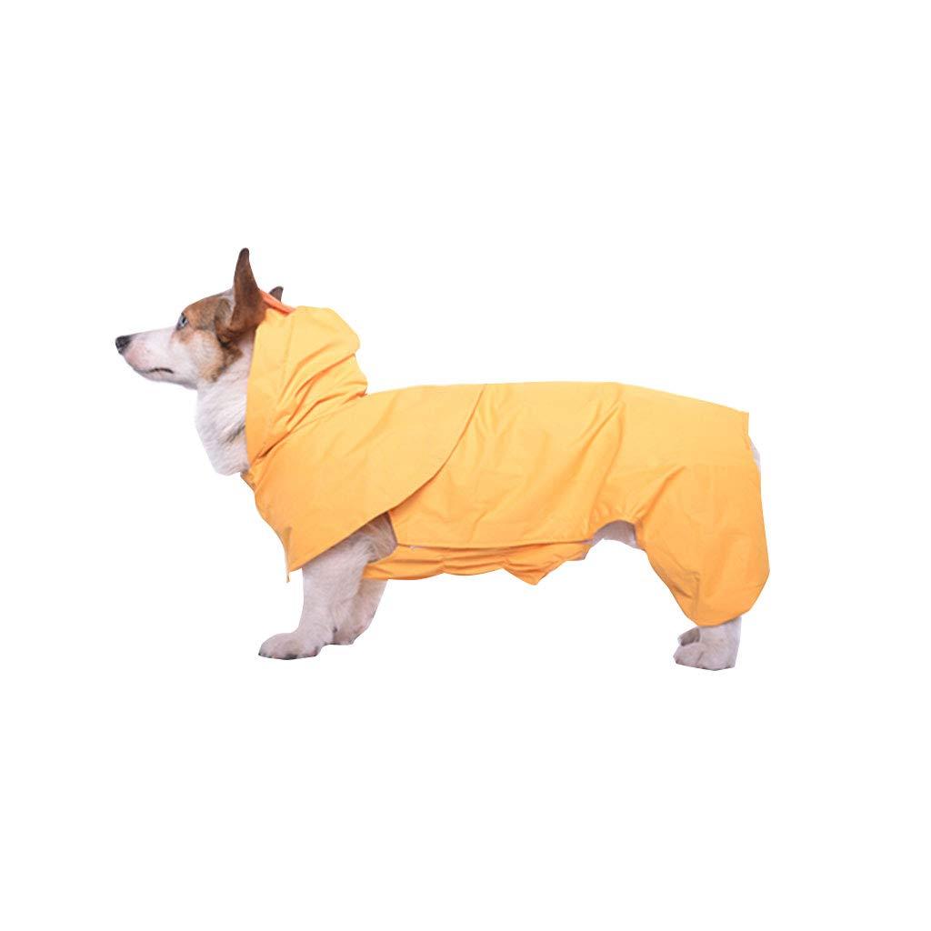 XXL Pet Travel Bag Dog Clothes Four-Legged Poncho Waterproof Clothing Cloak Raincoat pet Clothes(Yellow) (Size   XXL)
