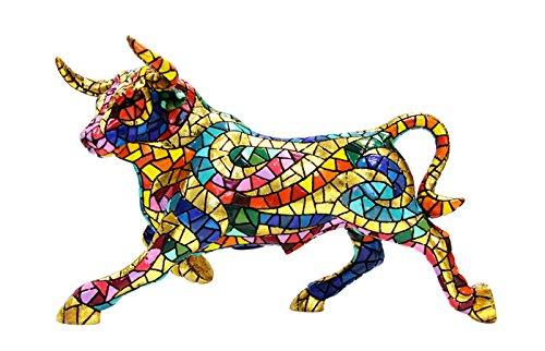 Stier Mosaik bunt der Kollektion Carnival 32 x 16 x 19.5 cm bunt