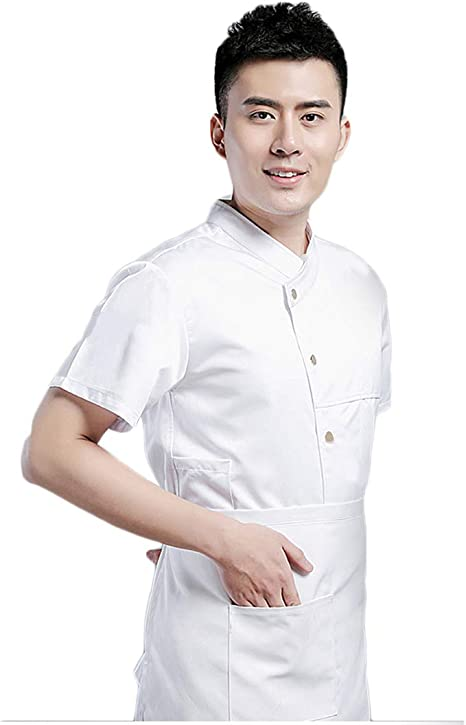 WYCDA Camisa de Cocinero Cocina Uniforme Manga Corta Absorción de Humedad Disfraz de Chef Unisex Adecuado para El Restaurante del Hotel Casa de Té en Casa,Whiteshortsleeves,XXL: Amazon.es: Hogar
