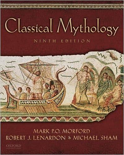 Classical mythology 9th edition   rent 9780195397703   chegg. Com.