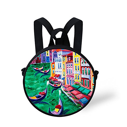 Animals FancyPrint for Print V6ld0384i Bag Round Crossbody Women Round Bag AqddxIaw