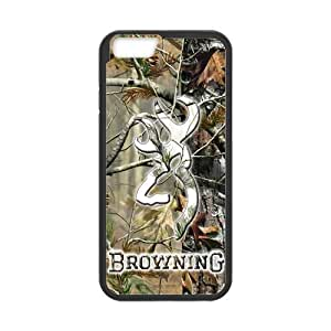 Canting_Good Browning Cutter Logo Real Tree Custom Case Shell Skin for iPhone6 4.7 (Laser Technology)