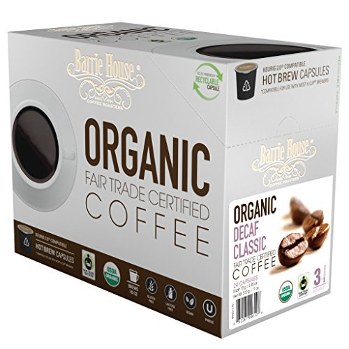 Barrie House Organic & Fair Trade Certified Decaf Classic Single Cup Capsules, 24 ()