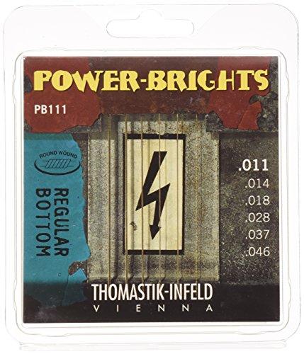 Thomastik Electric Guitar Infeld - Thomastik-Infeld PB111 Electric Guitar Strings: Power-Brights 6 String Magnecore Round Wound Set E, B, G, D, A, E
