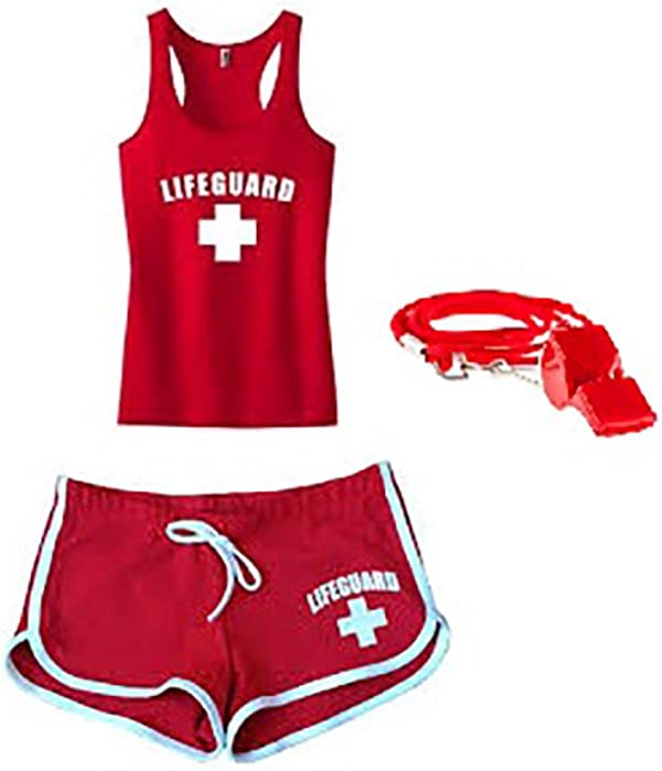 a3b7ce6ae4a9 Amazon.com  Lifeguard Master Ladies Lifeguard Tank TOP Racer Back  Combo-Large  Clothing
