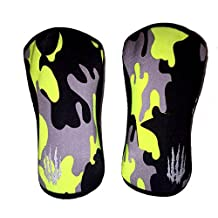 Bear KompleX Knee Sleeves (SOLD AS A PAIR of 2) for Cross fitness, weightlifting, wrestling, basketball, squats, and more. Compression sleeves come in 5mm and 7mm thickness and multiple colors
