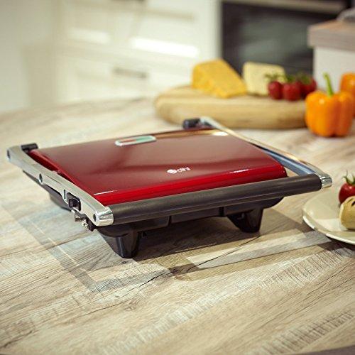 Dihl KA-PG04-RED 4-Slice Stainless Steel Sandwich Press Contact Panini...