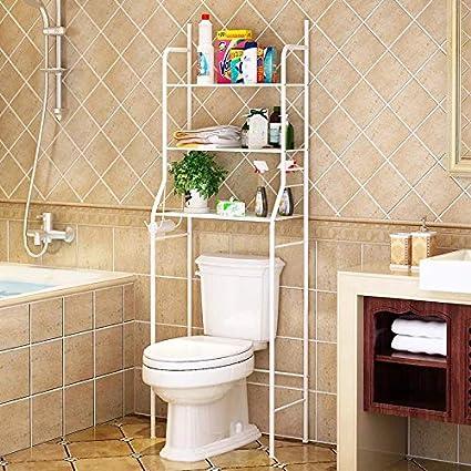 Amazon Com Beeiee 3 Shelf Bathroom Organizer Over The Toilet