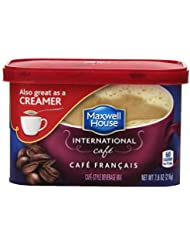 Maxwell House International Cafe Flavored Instant Coffee, Cafe Francais, 7.6 Ounce Canister