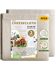 Olicity Cheese Cloth, Muslin Cloth Hemmed Edge Cheesecloth Food Strainers for Straining, Beer Brewing Filters, Cheese Makers