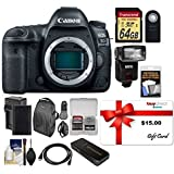 buydirect Canon EOS 5D Mark IV 4K Wi-Fi Camera Body + 64GB SD Card + Battery + Charger + More