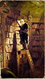 Carl Spitzweg's Bookworm Painting Print on Canvas Ready to Hang Museum Quality