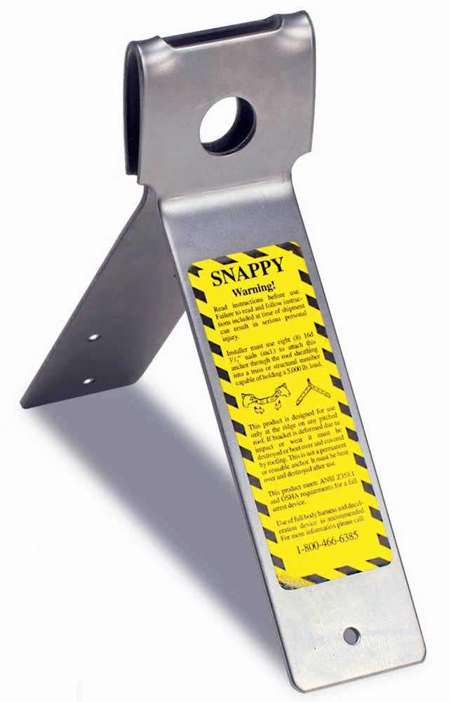 Guardian Fall Protection 00710 Snappy Disposable Anchor For Any Pitch Roof with 25 Nails