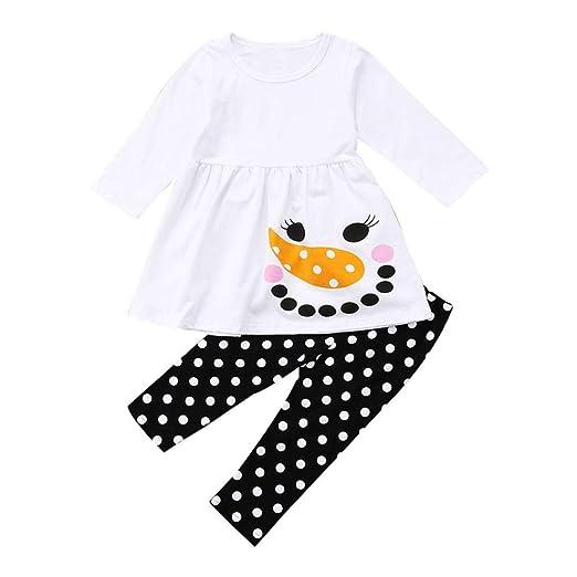 00e7046ab194 Amazon.com  Christmas Clothing Sets Kids Toddler Baby Girls Long ...