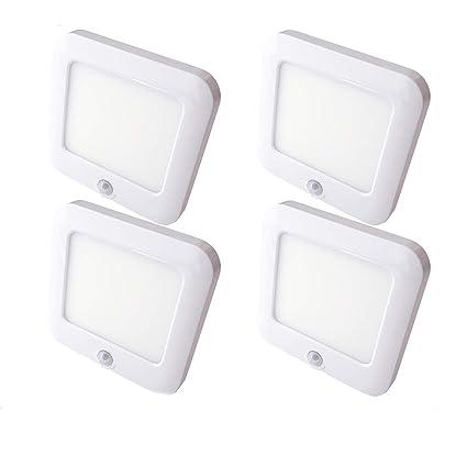 4 focos LED magnéticos recargables y con sensor de movimiento PIR para la cocina, armario