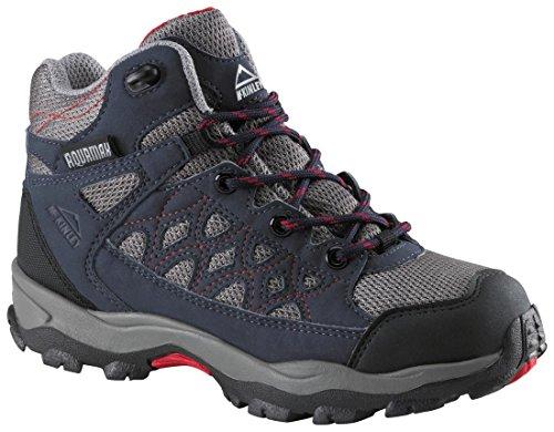 McKinley Bottes de randonnée Cisco Randonneur AQX Jr - BLEU/GRIS/ROUGE, 34