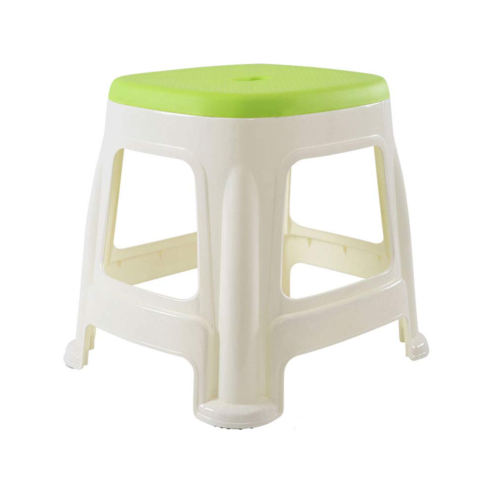 H 1412.213.2in Waist stool Plastic Stool Adult Home High Stool Thickening Square Stool Fashion Bathroom High Stool Change shoes Bench Dining Table High Stool (color   M 15.7  14.4  18.9in)