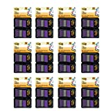 Post-it Flags, 1'', Purple, 50/Dispenser, 2 Dispensers/Pack, 12 Pack (680-PU2)