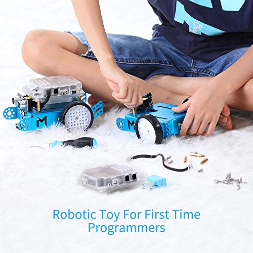 Makeblock mBot Robot Kit, DIY Mechanical Building Blocks, Entry-level Programming Helps Improve Children' s Logical Thinking and Creativity Skills, STEM Education. (Blue, Bluetooth Version, Family) by Makeblock (Image #2)