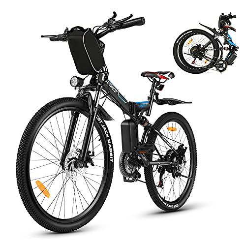 Vivi Elektrische fiets E-bike voor dames en heren, 26 inch, 350 W, 36 V, 8 Ah lithium-batterij en Shimano 21…