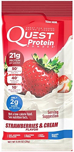 Quest Nutrition Quest Protein tpkotT Powder, Strawberries & Cream 24 Count by Quest Nutrition