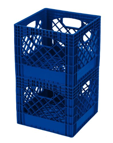 Used, Buddeez MC01016B281C Milk Crates, 16-Quart, Blue, 2-Pack for sale  Delivered anywhere in USA