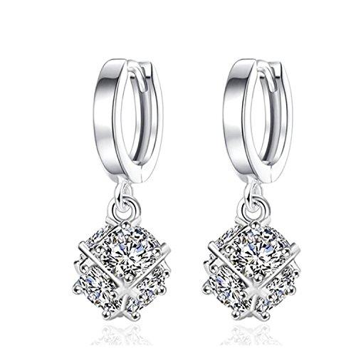 HIYOU-HOME Womens,Mens Cross Stud Earrings (Six sides of - Heeren The