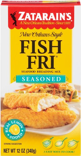 Zatarain's Coating Mix Fish Fry Seasoned, 12-ounces (Pack of 12) by Zatarain's