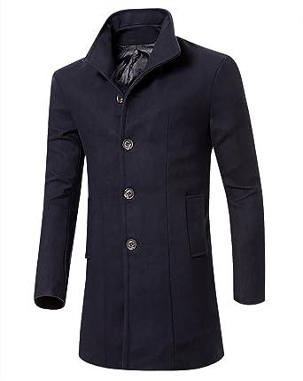 MISSMAO Uomo Classico Sottile Giacca Trench Caloroso Cappotto Invernale  Cappotto di Lana  Amazon.it  Abbigliamento 9f1747b6051