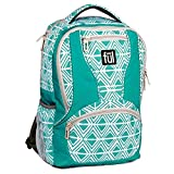 Ful Mission Diamond Tribal Laptop Backpack, Fits 15in Laptops, Teal