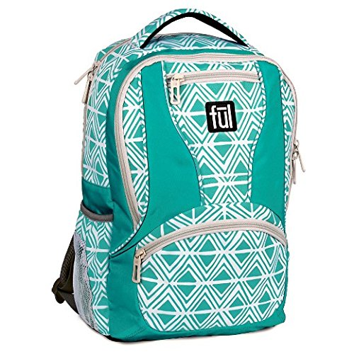 Mission Diamond (Ful Mission Diamond Tribal Laptop Backpack, Fits 15in Laptops, Teal)