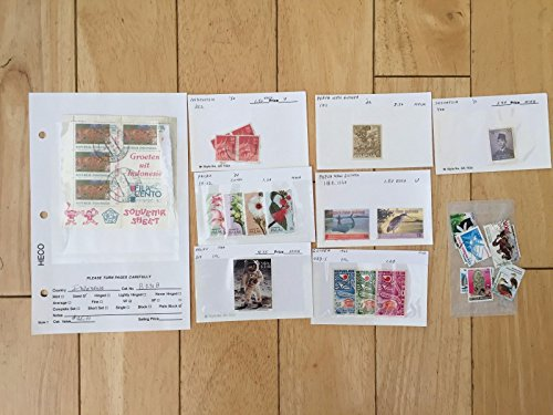 H03 Indonesia stamps 352 Palau 219 59-62 Papua New Guinea 1010 1159 1160