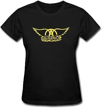Duanfu Aerosmith Logo Women's Cotton Short Sleeve T-Shirt