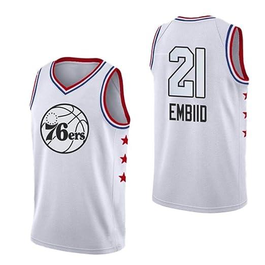 AKCHIUY Camiseta De Baloncesto para Hombre Joel Embiid # 21 - NBA ...
