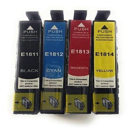 Générique - 4 cartuchos compatibles Epson T1815 para ...