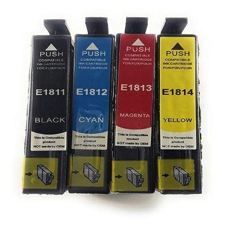 Générique - 4 cartuchos compatibles Epson T1815 para impresora ...