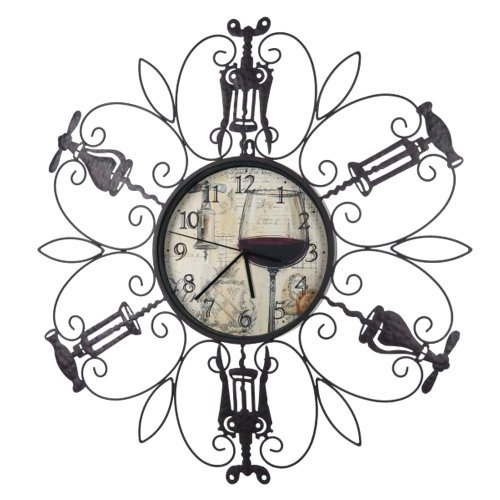 Ganz Time to Wine Wall Clock