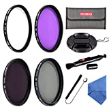 Beschoi 67mm UV CPL FLD Filters, Neutral Density ND4 Filter Kit for Canon Nikon and Other Camera Lenses with 67mm Filter Size, with Lens Cap, Cap Keeper, Cleaning Pen, Filter Pouch Bag, Cleaning Cloth