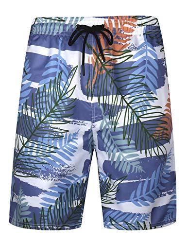 APTRO Men's Quick Dry Swim Trunks with Lining Beach Swimwear HW038 M (Men All In One Pajamas)